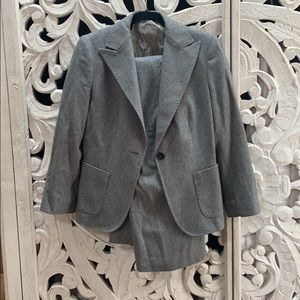 Max Mara gray wool suit